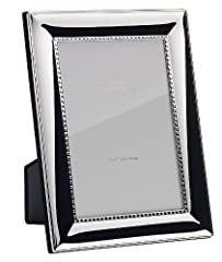 Idea Regalo - Addison Ross Ltd. - Cornice per foto, placcata argento, con bordo interno decorato, 20,3 x 25,4 cm