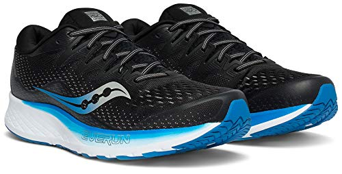 Saucony Herren Ride Iso 2, schwarz/blau, 45 EU (Herren Saucony-schwarz Schuhe)