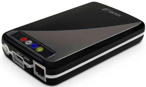 FANTEC MWiD25 Mobile WLAN Festplatte (extern, 750GB, 6,35cm (2,5 Zoll), WLAN, USB3.0, LAN, Akku integriert) schwarz