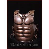 spartaner muscular tanque de acero con acabado de bronce de armadura Armadura tanque placa LARP Vikingo Medieval