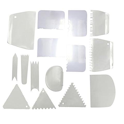 15 Pc Set of Plastic Cake Edge Decorating Tools by