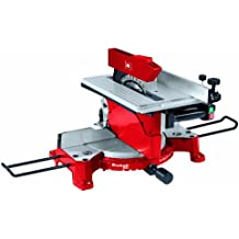 Einhell TH-MS 2513 T - Ingletadora con mesa superior, hoja de sierra 30 x 250 mm, 4500 rpm, 1800 W, 230 V, color rojo y negro