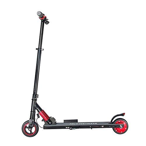 Megawheels Eléctrico Scooter, Ultraligero Plegable E-Scooter 250W Motor Velocidad Máxima de hasta 14 mph para Adultos, Adolescentes (Rojo)