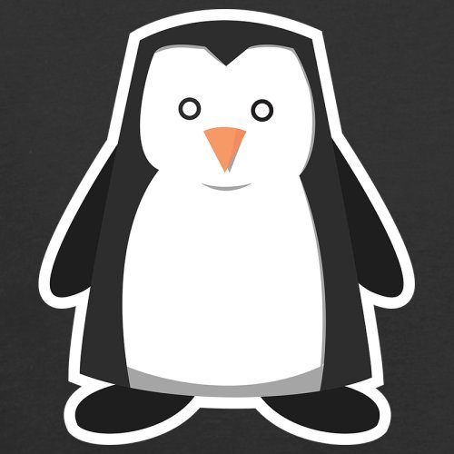 Cute Penguin - Herren T-Shirt - 13 Farben Schwarz