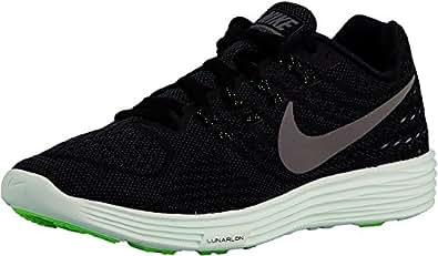 Nike Women's Wmns Lunartempo 2 LB Running Shoes, Black (Blk / Mtlc Pwtr-Anthrct-Brly Grn), 3