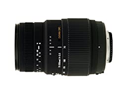 Sigma 70-300mm F/4-5.6 DG Macro Telephoto Zoom Lens for Nikon Digital and Film Camera