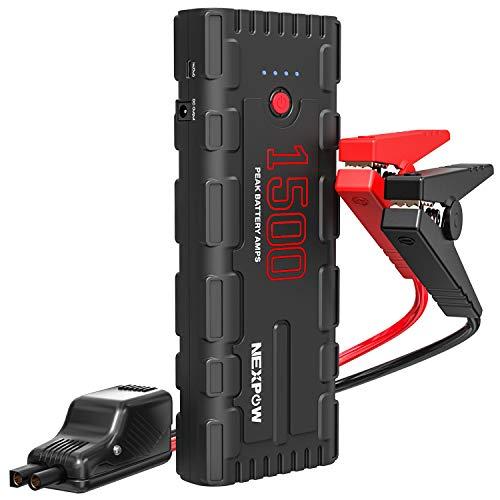 NEXPOW G17 Starthilfe Powerbank 21800 mAh 1500A 80,66Wh Autobatterie Anlasser Power Pack mit intelligentem Kabel, USB-C Kabel, LED Taschenlampe, QC 3,0 und DC-Ausgang