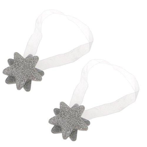 Sharplace 1 Par de Cuerdas de Cortina con Cinta de Estrellas Hebilla Magnética de Imán Accesorios de Cortinas de Baño