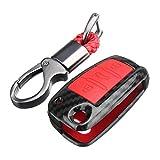 AAlamor Plastica + Silicone Auto Chiave Caso Protector Cover Telecomando FOB per Audi Q3 A1 S3 Q7 A5 TT Tts - Rosso
