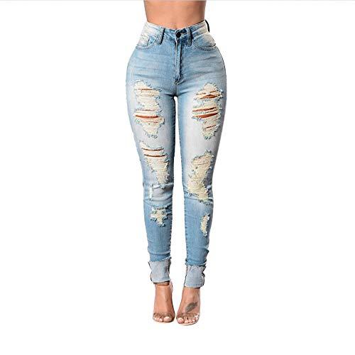 faff9c0ada7 RACEER Jeans Womens Fashion Women Jeans Denim Hole Female Ladies Mid Waist  Stretch Slim Sexy Pencil