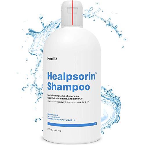 Healpsorin Psoriasis-Shampoo 500 ml mit 2% Salicylsäure - Therapeutische Behandlung - Kopfhautjucken und Schuppenbildung - Seborrhoischer Dermatitis - Anti-Schuppen - Trockene Kopfhaut