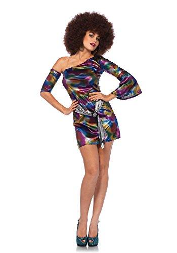 LEG AVENUE 85588 - 2 teilig Set Disco-doll, Damen Karneval Kostüm Fasching, S/M, - Disco Doll Erwachsenen Kostüme