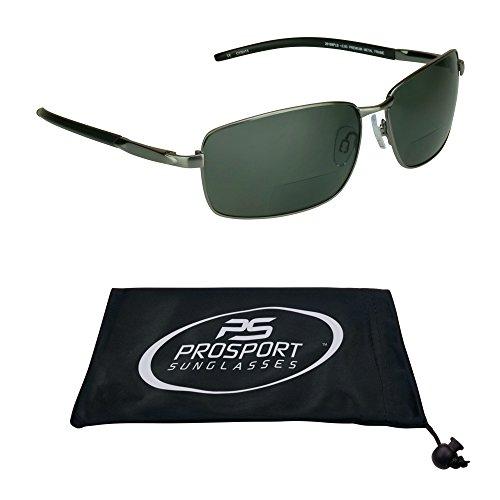 proSPORTsunglasses Polarisiert Bifokalwillen Sonnenbrille Mit Premium-Tac Polarisierende Gläser, Langlebige Nickel-Metall-Frames. (3,00) Herren Mittel Schwarz