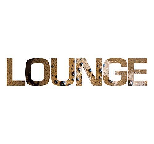 Cuadros Lifestyle Wanddekoration/Wandbuchstaben -3D Schrift/Schriftzug Kaffee 'LOUNGE', Größe:ca....