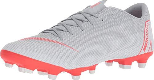 Nike Unisex-Erwachsene MercurialX Vapor XII Academy Turf Sneakers Mehrfarbig (Wolf Grey/Bright Crimson/Pure Platinum 001) 39 EU - Schuhe Turf Nike Männer Für