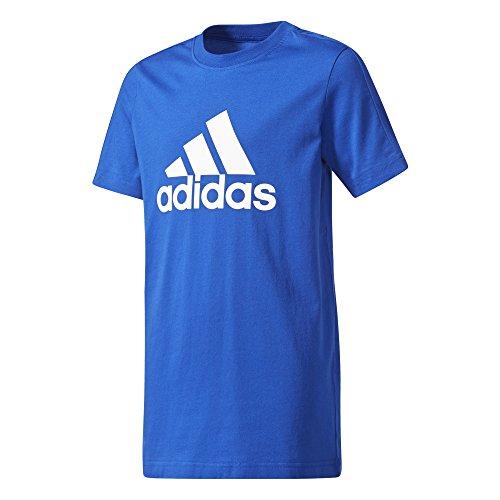adidas Jungen YB Logo T-Shirt, Croyal/White, 116