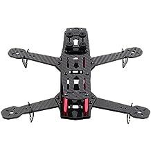 Carbon Fiber DIY Quadcopter Quad Race Copter Frame Kit 250 FPV Race Drone Sport carbon fiber aluminum black, by LC Prime