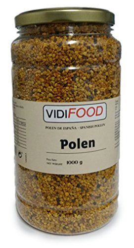 Polen de Abeja Natural en Grano - 1kg - Producto de España - Ayuda para cuidar su salud y...