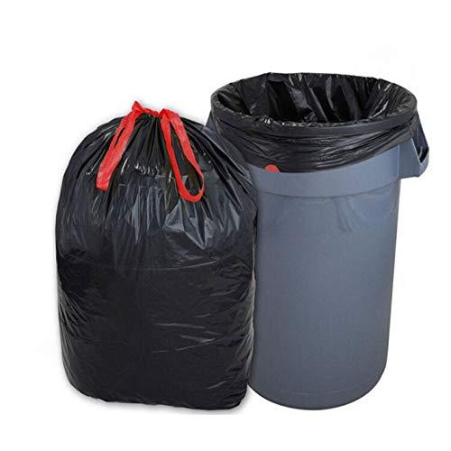 300 Müllsäcke mit Zugband 60 Liter(60x72cm), schwarz, 35µ - sehr stark. Muellbeutel. Abfallsäcke. Mülltüten. - Schwarz 60