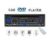 Lling (TM) lettore audio DVD / CD per auto 12V vivavoce Bluetooth lettore MP3 supporto microfono esterno supporto radio FM / AM / RDS / funzione AUX, funzione USB / SD