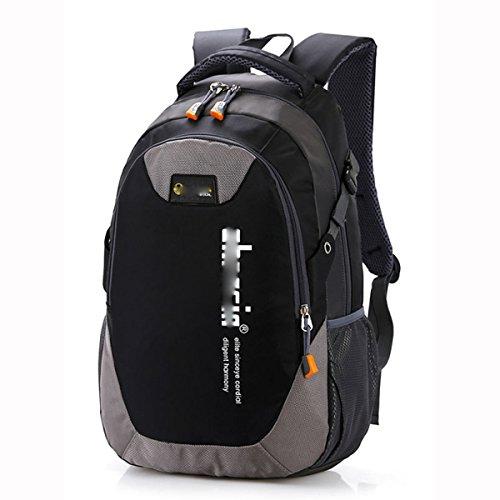 Freizeit-Mode-Reise-Rucksack-Schule-Beutel-Kursteilnehmer-Schulter-Beutel-Tagesbeutel,Lavender Black