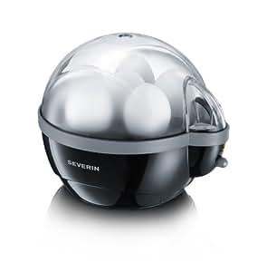 Severin - 3056 - Cuit-Oeufs - 400 W - 1 à 6 œufs - noir / gris