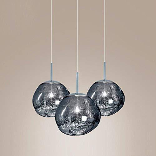 Moderna Lampada a Sospensione Tom DIXON Lava Glass Ball Shade Specchio Hang Pendant Light Art Design Famoso Camera Bar Living Room Fixtures, Rosso 5 Testa