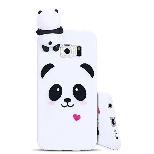 49e05a4f0f26ec für Samsung S6 Edge Hülle , Galaxy S6 Edge Handyhülle , Anfire 3D Panda  Muster Design Tasche TPU Silikon Handytasche Ultra Slim Weich Matte  Schutzhülle Soft ...