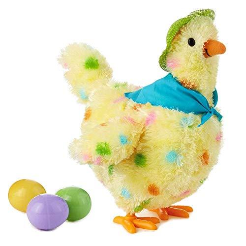 Unbekannt PER Kinder lustige Henne Elektronische Huhn Weichem Plüsch Spielzeug Tanzen Gesang Eier Legen Lustige Spielzeug Geschenke Geschenk für Kinder Kleinkind (Für Spielzeug Elektronisches Kleinkinder)