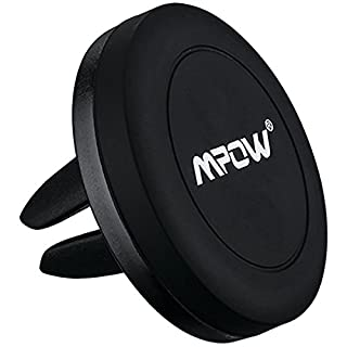 Car Phone Holder, Mpow Grip Magnetic Car Phone Mount Air Vent Car Mount Universal Car Holder Cradle for iPhone 7 6 6 Plus 5 Nexus 7 Huawei P9 LG Sony Samsung S7 S6 Note 5 4 and other Mobile Phones(Black)
