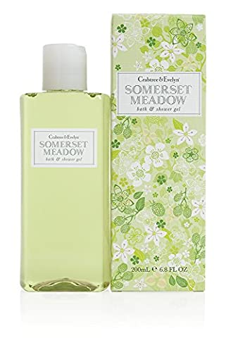 Crabtree & Evelyn Somerset Meadow bath und shower gel, 1er Pack (1 x 200 ml) (Süß Summer Scent)