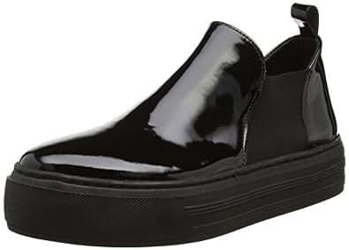 SELECTED FEMME Sfvigga Patent Platform Shoe F, Pantoufles Femmes - Noir - Noir, 41 EU