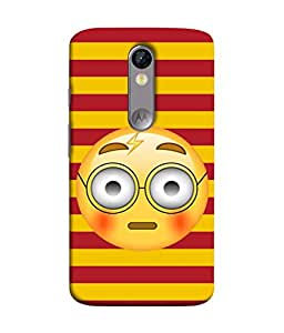 PrintVisa Designer Back Case Cover for Motorola Moto X Force :: Motorola Moto X Force Dual SIM (Cartoons Spects Spectacles Shy Wide Eyed)
