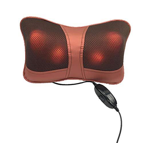 PalpitationAuto Kopfstütze Hals elektrische Massagekissen, Auto Nackenmassage Auto nach Hause Dual Massagekissen, rot,Red