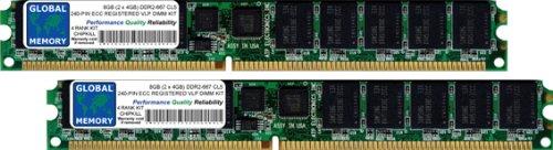 Pc2-5300 240-pin Ecc Registered (8GB (2x 4GB) DDR2667MHz PC2–5300240-PIN ECC REGISTERED VLP DIMM MEMORY RAM KIT für Servers/WORKSTATIONS/MAINBOARDS (4RANK KIT))