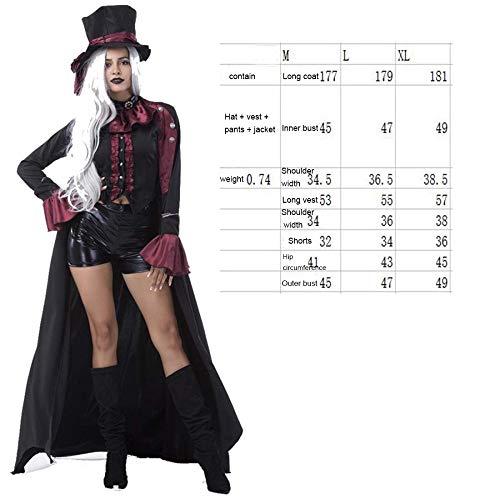 SPFAZJ Halloween-Kostüm Vampir Dämon männlichen Gentleman Leistung Kostüm Night Shop Paar Spielen Kostüm Männer und Frauen aus E-Kleidung