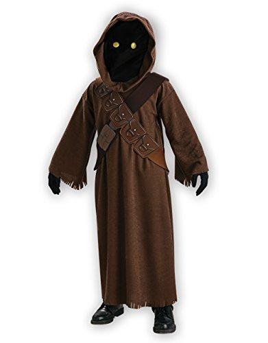 Star Wars Kostüm, Kinder Jawa Outfit, groß, Alter 8–10, Höhe (Kostüm Jawa Wars Star)