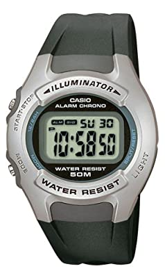 Casio CASIO Collection - Reloj digital de caballero de cuarzo con correa de resina negra (cronómetro, alarma, luz) - sumergible a 50 metros