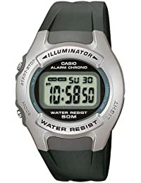 Casio Collection – Herren-Armbanduhr mit Digital-Display und Resin-Armband – W-42H-1AVES