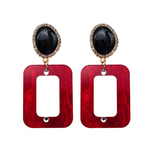ng Ohrh?nger Set Statement Ohrringe Anh?nger Earrings Vintage Modeschmuck Schmuck (Roter Stein Modeschmuck)