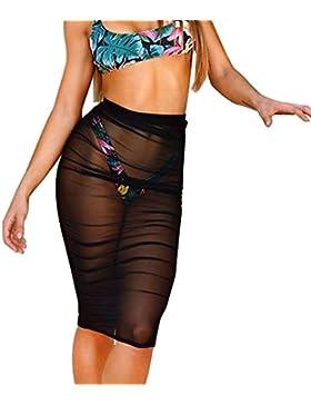 Lunaanco Mujer Vestidos Camisetas de Mujer ➼-Vestido Clásico Básico Sexy Falda Chaleco Camisetas Blusa de Fiesta...
