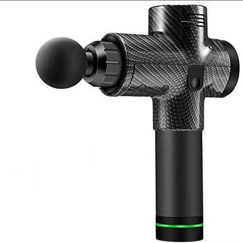 Massagepistole, professionelle Percussion-Massagepistole, handgehaltenes Tiefenmuskelmassagegerät, entwickelt mit Silent-Slip-Technologie, 3 Stationen zum Debuggen, mit 4 Massageköpfen -