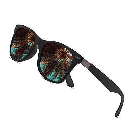 Erik Kalani Sonnenbrille für Herren und Damen, polarisiert, UV 400 Schutz, leichtes ergonomisches Design, entspiegelt, polarisierte Sonnenbrillen Männer Frauen, Auto, Motorrad, Fahrrad, Ski, Sport