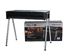Idea Regalo - Barbecue Portatile Pieghevole Griglia a Carbone BBQ in acciaio per 4-6 Persone Pieghevole per Picnic con gli Amici, Riunione di Famiglia in Balcone e Giardino, Campeggio