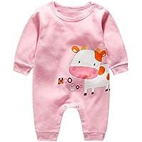 Moginp Overall,Säuglings Baby Unisex Mädchen Jumpsuit Karikatur Lange Hülsen Spielanzug Nette Druck Strampler kletternde Kleidung