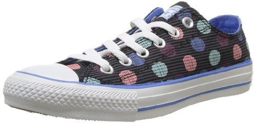 Converse, Chuck Taylor All Star Polka Dot OX, Sneaker,Unisex - adulto nero (Noir (Noir/Multi))
