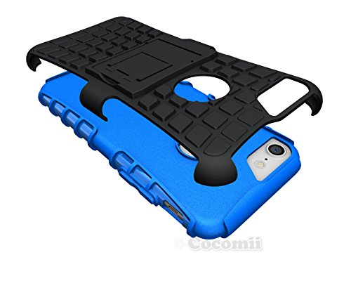 iPhone 8 / iPhone 7 Hülle, Cocomii Grenade Armor NEW [Heavy Duty] Premium Tactical Grip Kickstand Shockproof Hard Bumper Shell [Military Defender] Full Body Dual Layer Rugged Cover Case Schutzhülle Ap Blue
