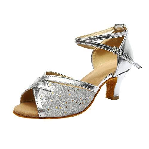 DIPOLA Schwarz Silberne mit Absatz weiß ohne Silber Sandaletten kleinem