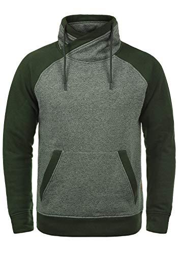 JACK & JONES Core Ridge Herren Sweatpullover Pullover Mit Cross-Over Kragen Stehkragen, Größe:S, Farbe:Rosin Tumbler Ridge