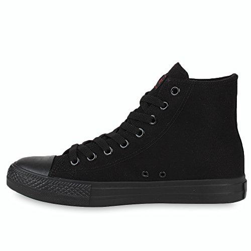 Camouflage Stoffschuhe Herren Sneaker Turnschuhe Sneakers Schwarz Schuhe Denim High Schnürer x7q4wYa6q